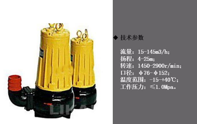 AS/AV型潜水排污泵技术参数