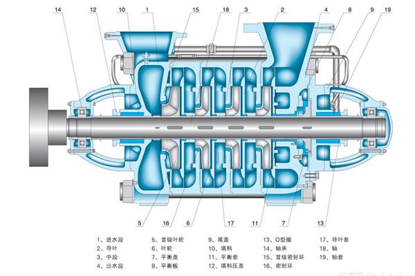 DF12-50X4型不锈钢多级离心泵安装结构图