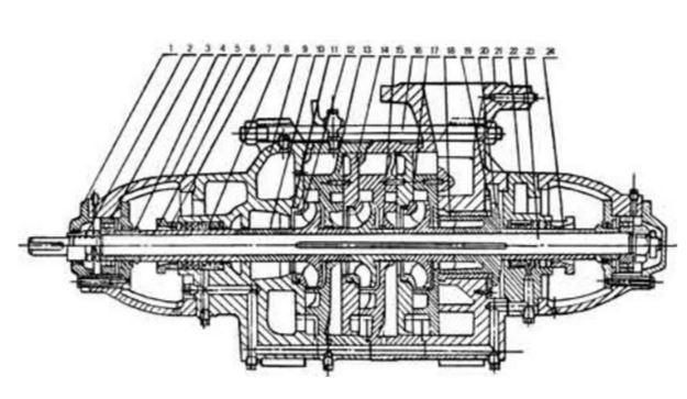 D600-60多级离心泵结构图