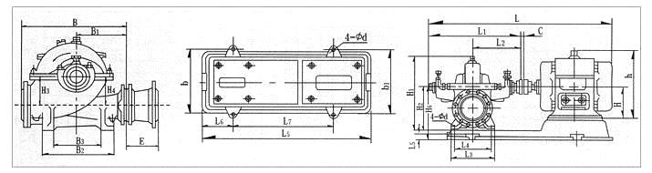 S、SH型单级双吸泵